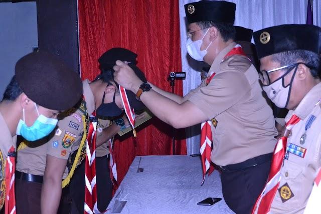 Ketua Kwarcab Cianjur Kukuhkan 194 Anggota Pramuka Garuda