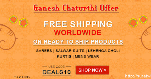 Ganesh Chaturthi Wholesale Ethnic Wear Sarees Offers