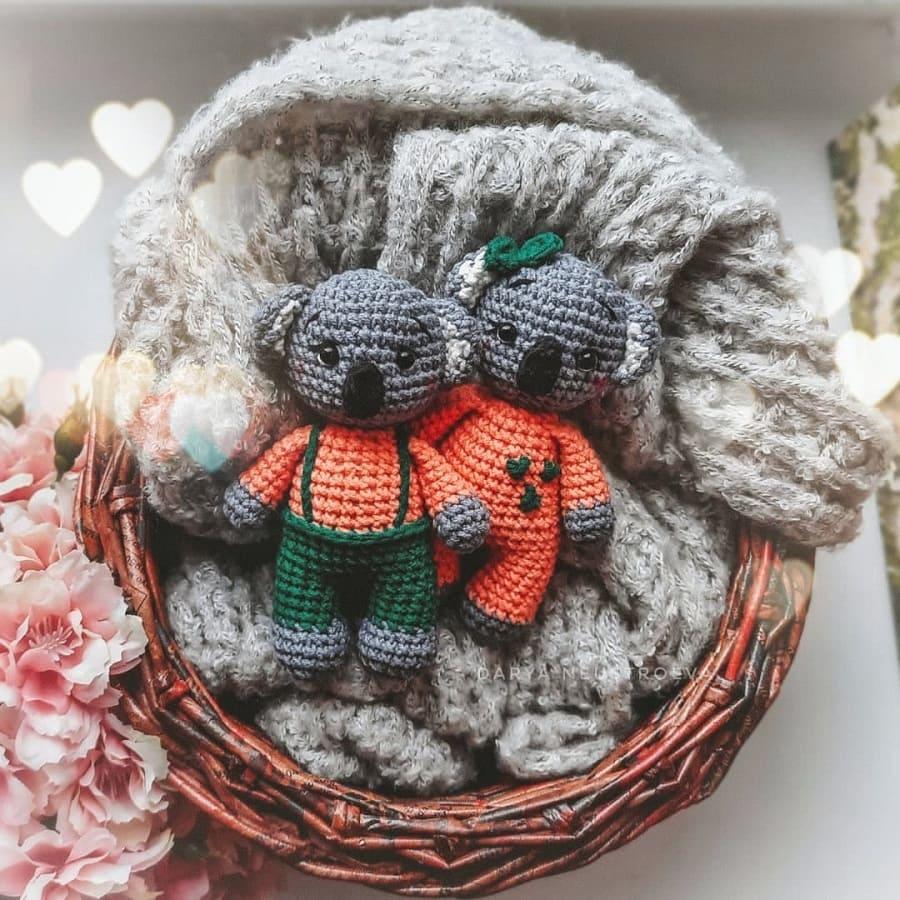Pequeno coala Amigurumi