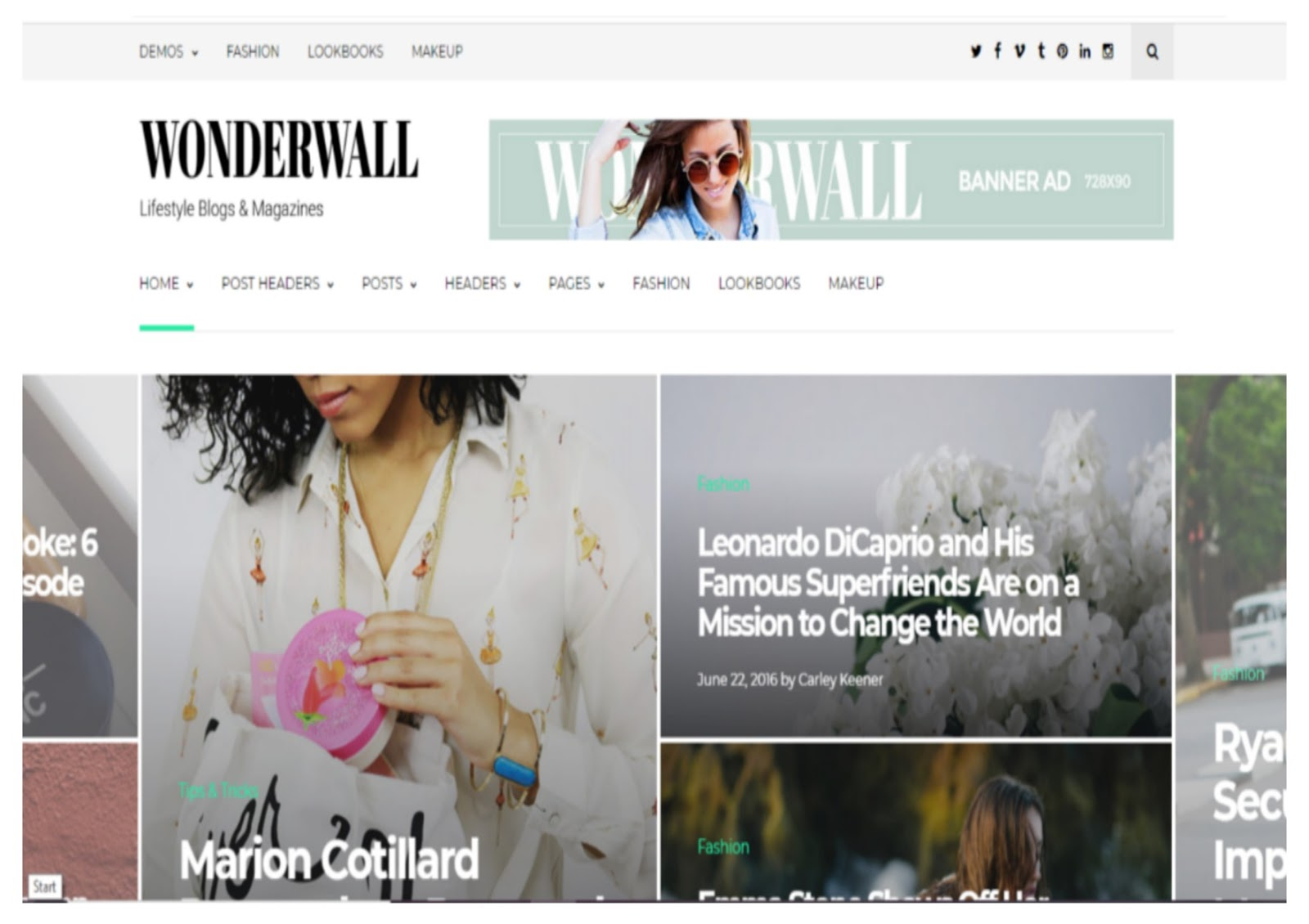 Wonderwall Magazine Theme