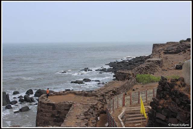 Khanderi Fort Wall