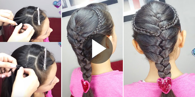 How To Creare Pate With French Braids Hairstyle - See Tutorial
