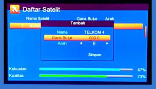 Cara Tracking Satelit Telkom 4 108.0°E