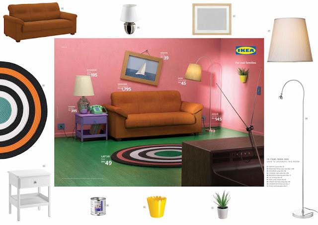 IKEA recreates iconic living rooms