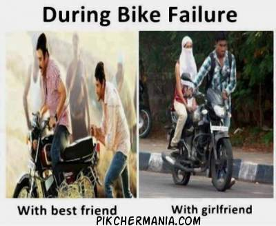during bike failure difference between girlfriend and bestfriend