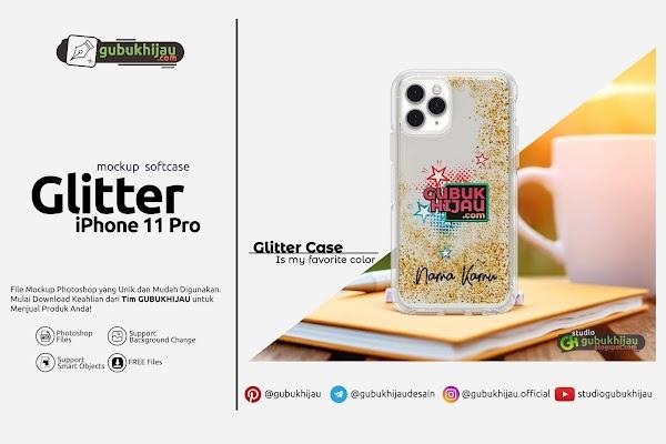 Mockup Softcase Glitter iPhone 11 Pro