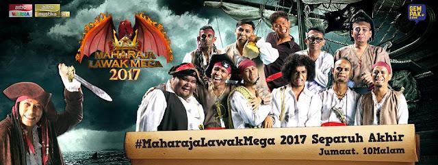 Zero, Bocey, Shiro, Puteh dan Dzawin ke Final MLM2017, Semi Final, Separuh Akhir, Maharaja Lawak Mega 2017, Empayar Lawak, Lanun Lawak, Final MLM2017 Di Kedah, Pelawak, Tema,