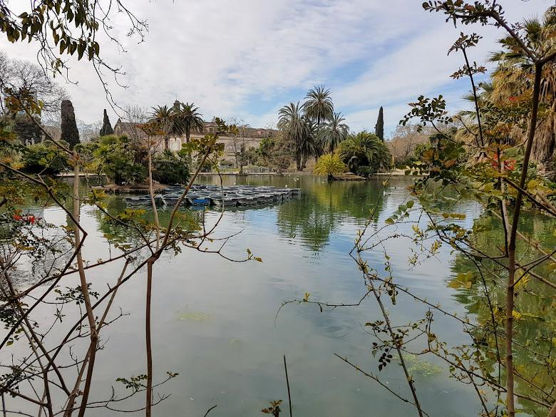 城堡公園內的水池