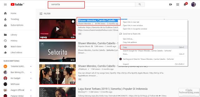 Cara Download Lagu Di Youtube Lewat Hp Atau Komputer Dengan Mudah - Cintanetworking.com