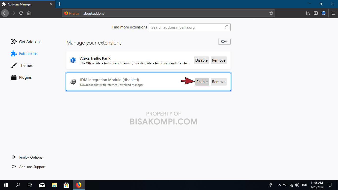Penyebab dan Cara Mengatasi IDM Tidak Bisa Download File di Mozila Firefox