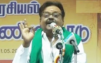 Vijayakanth speaks Jayalalitha's dialogue