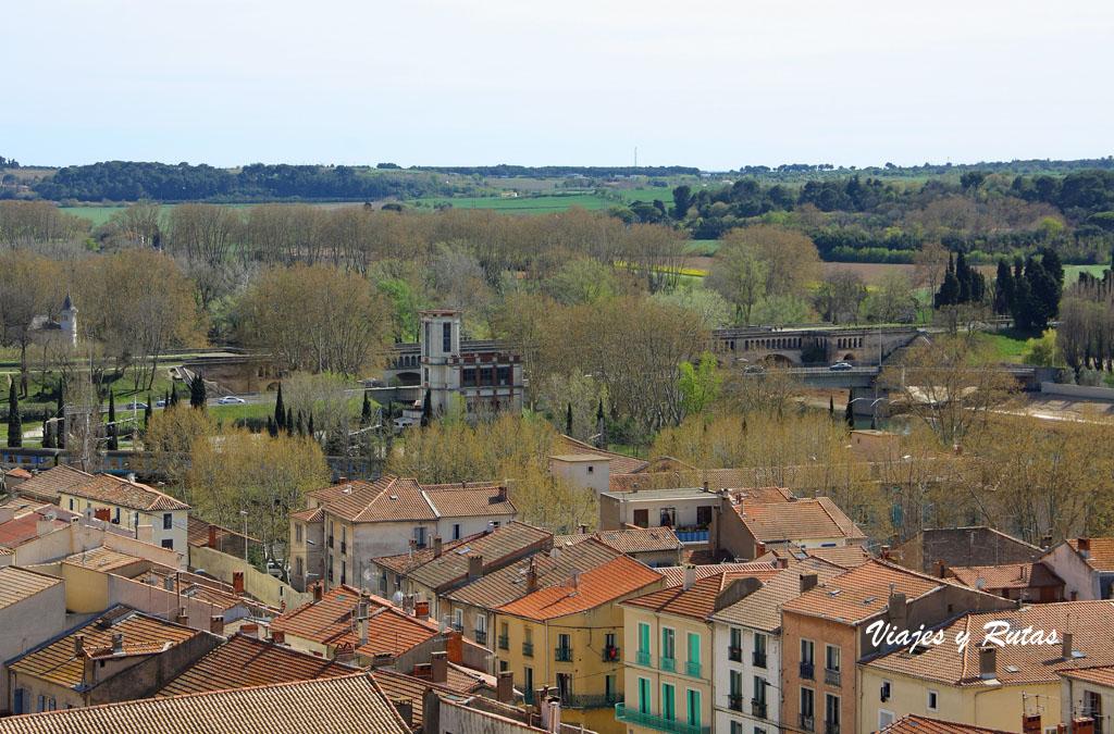 Beziers, vistas desde Jardín de los Obispos