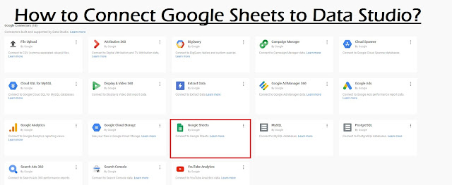 How to Connect Google Sheets to Data Studio?