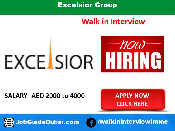 Excelsior Group career for Female Customer Service Representative jobs in Dubai UAE