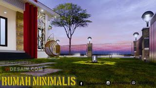 Desain taman depan pagar rumah