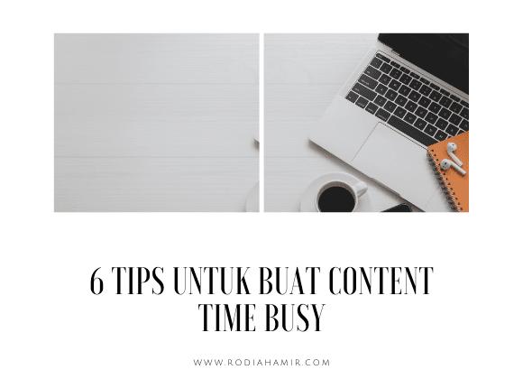 Tips Buat Konten waktu busy