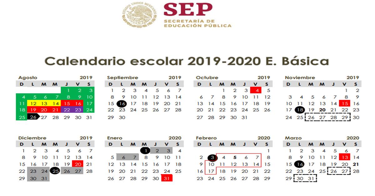 Este es el calendario oficial 2019-2020 de 190 días - AlexDuve