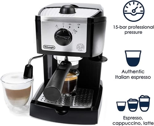 De'Longhi 15 bar Pump Espresso and Cappuccino Maker
