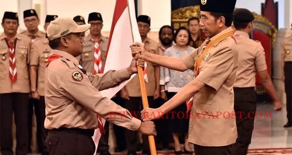 Presiden Jokowi Lepas Kontingen Pramuka Indonesia Ke Jambore Pramuka Dunia Di Virginia, AS