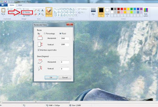 Cara Mengecilkan Ukuran Foto Menggunakan Paint di laptop