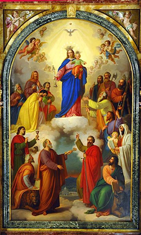 Imagem de Maria Auxiliadora, em Turim, que Don Bosco mandou pintar até os mínimos detalhes.