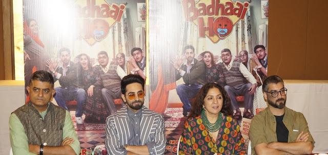 'बधाई हो' के कलाकारों ने दिल्ली में किया फिल्म का प्रमोशन