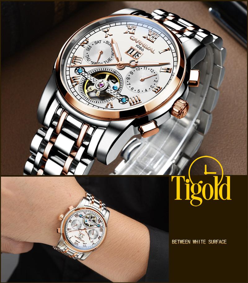 đồng hồ đeo tay nam carnival cao cấp