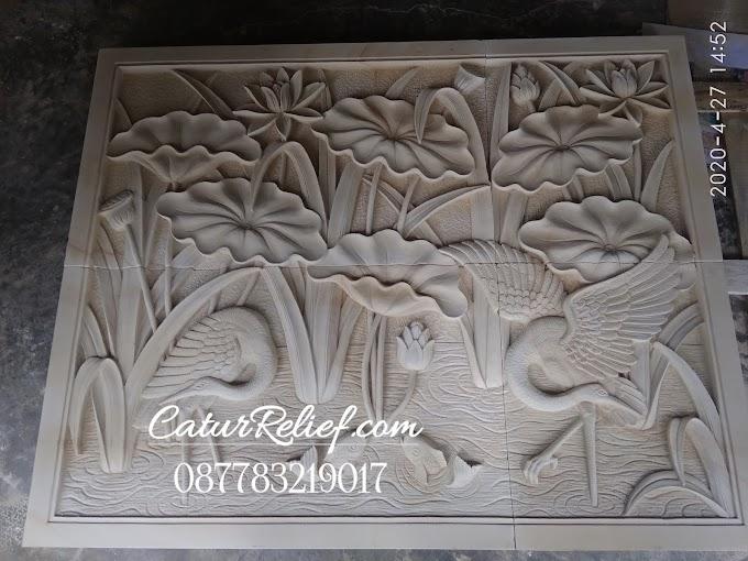 ukiran Relief batu paras hiasan dinding