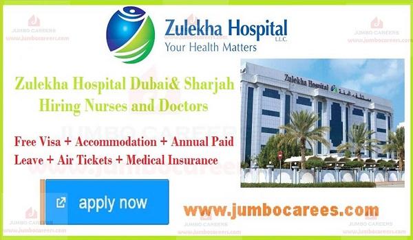 Zulekha Hospital Dubai Sharjah Jobs Careers for Nurse and Doctors
