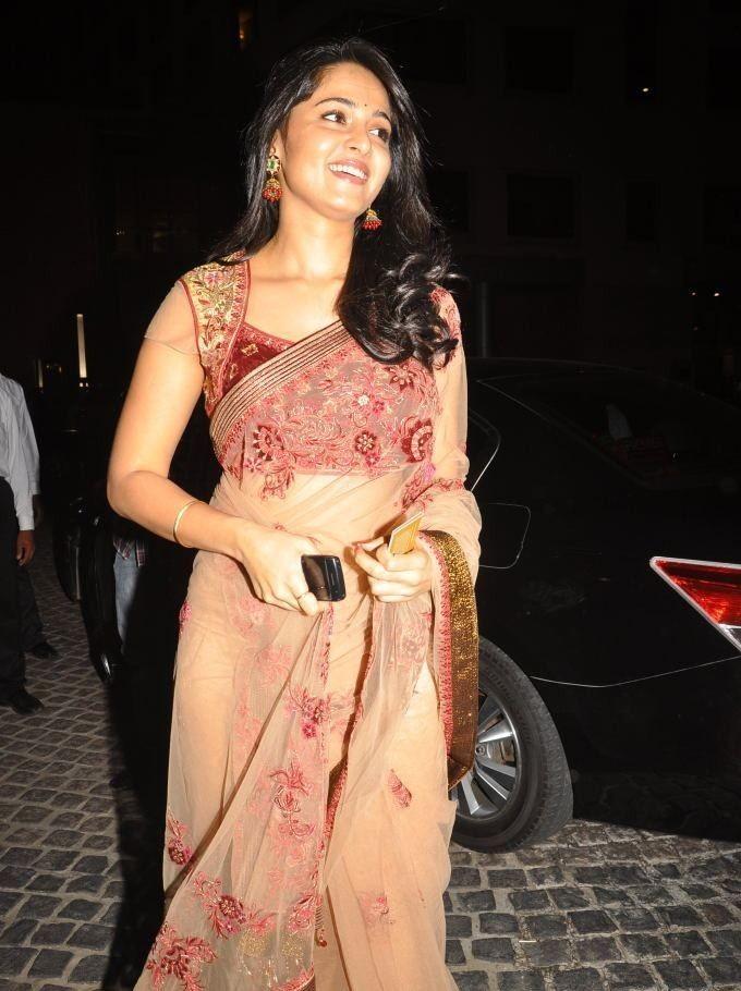 Anushka at an event in saree