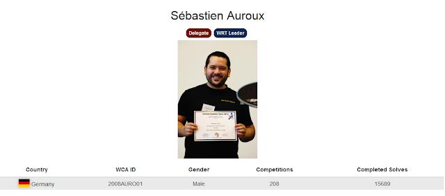 Profile akun WCA dari Sébastien Auroux