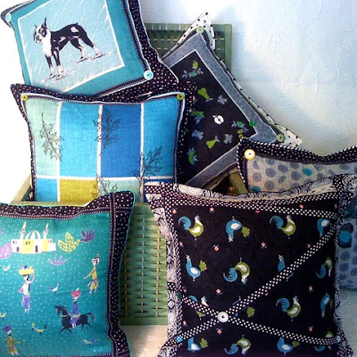 Collection of Teardrop Hanky pillows