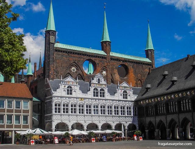 Prefeitura medieval e Praça do Mercado de Lübeck, Alemanha