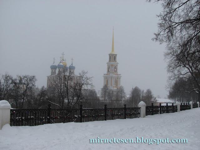 Рязань - вид на кремль зимой