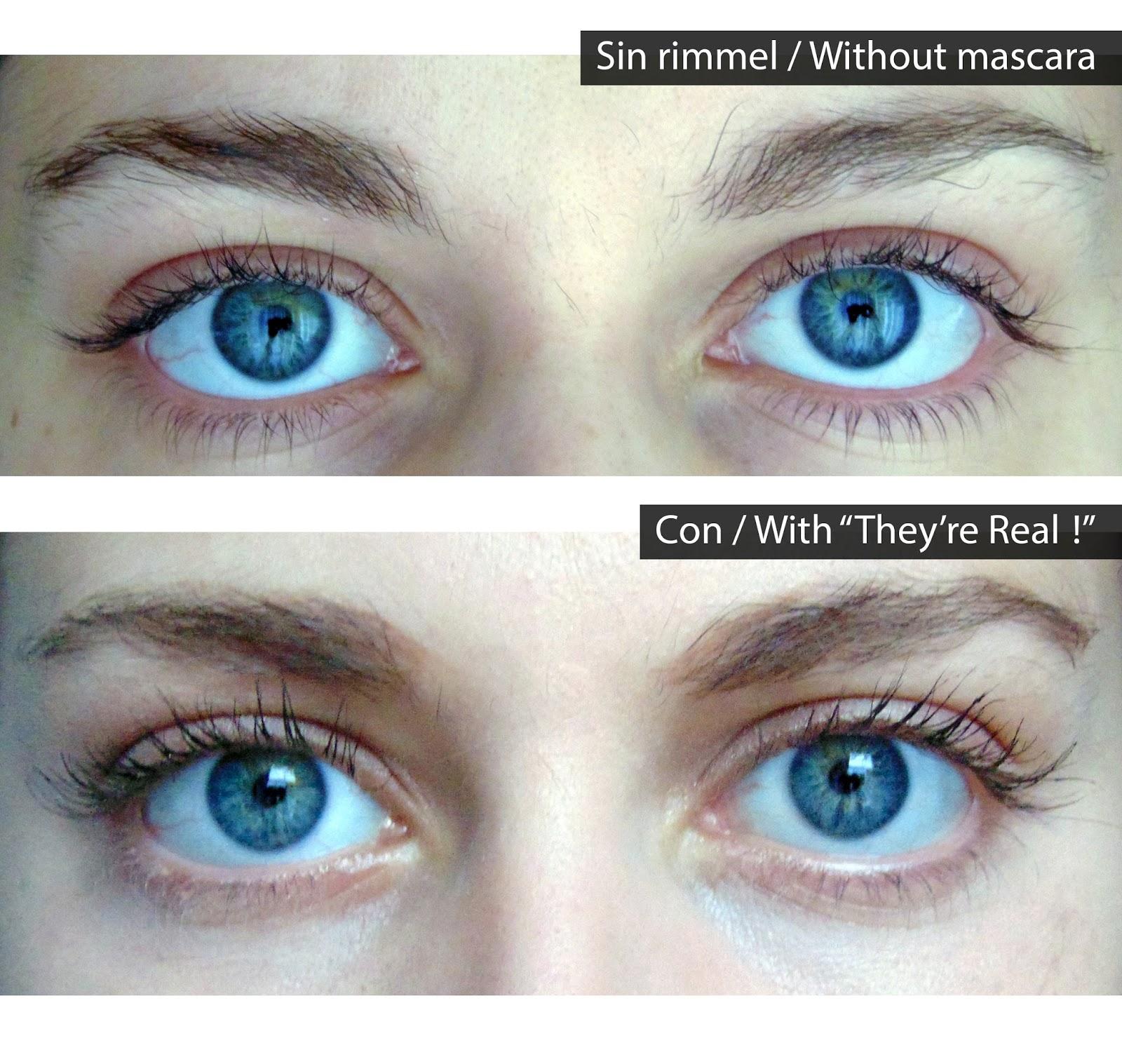 Review, before and after photos. Reseña, antes y después fotos. Primera impresión they´re real rimmel