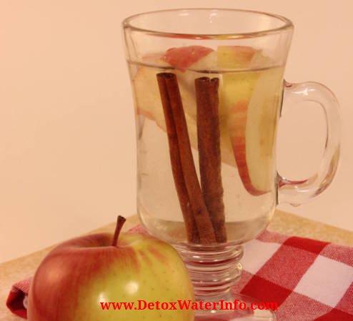 Apple Cinnamon Detox Water Fruit Infused drink