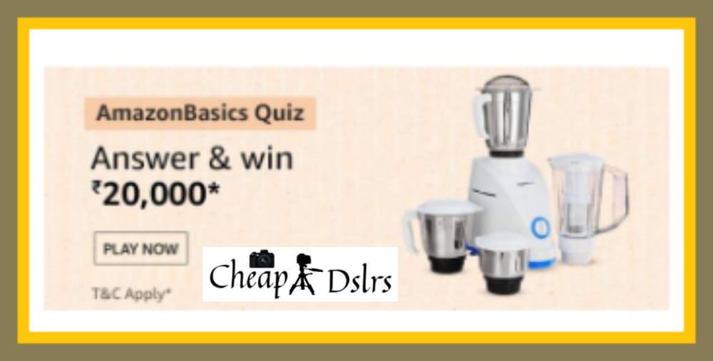 Amazon Basics Quiz Answers Win – Rs.20000 Pay Balance