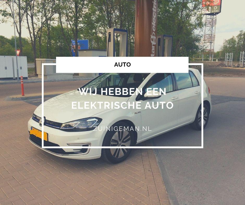 Wij hebben een elektrische auto e-golf