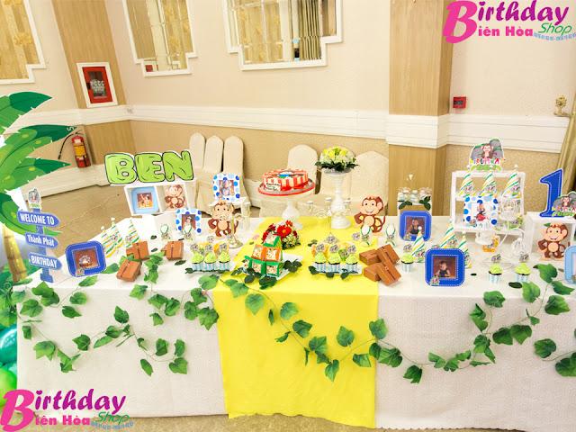 Trang trí bàn Gallery sinh nhật ở Biên Hòa