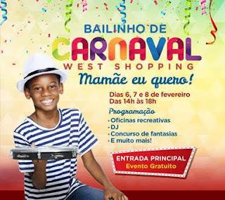 West Shopping festeja o Carnaval com Bailinhos infantis