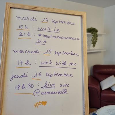 Au programme, semaine du 13 septembre
