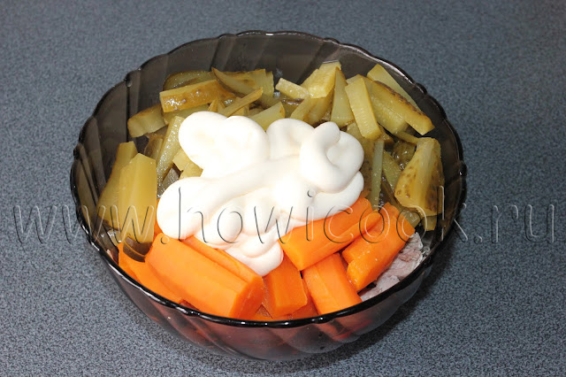 рецепт салата обжорка от марии порошиной с пошаговыми фото
