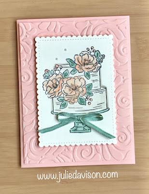 Stampin' Up! Sale-a-Bration 2020 Happy Birthday to You Celebrate Card ~ www.juliedavison.com