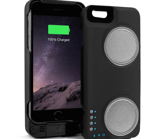 iPhone speaker case with power bank