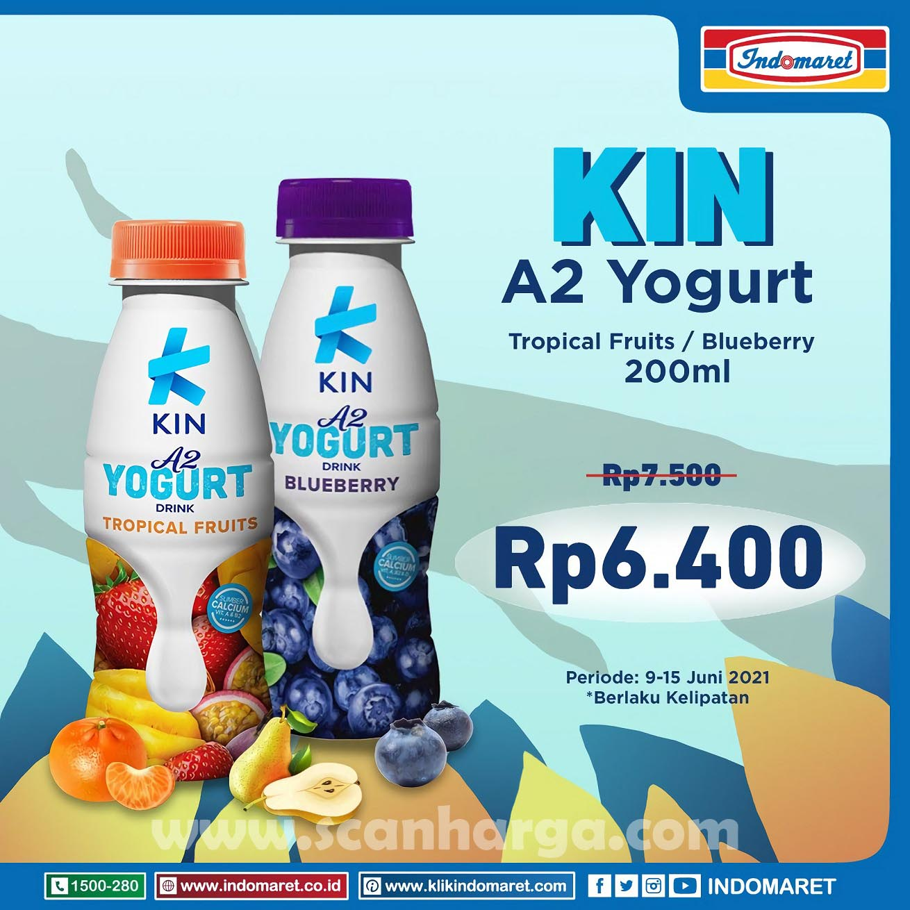 Promo INDOMARET Harga Spesial KIN Yogurt 1