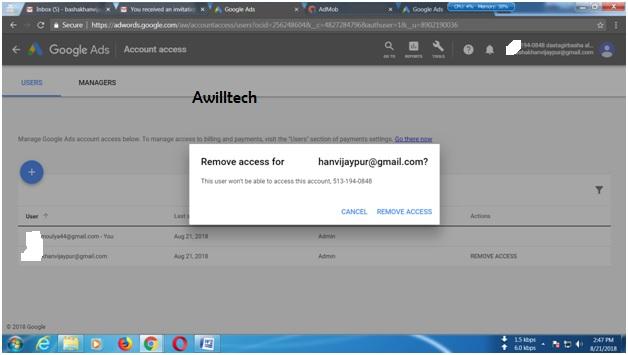 Remove Adword Access