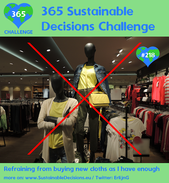 Refraining from buying new cloths as I have enough saving money sustainability sustainable living
