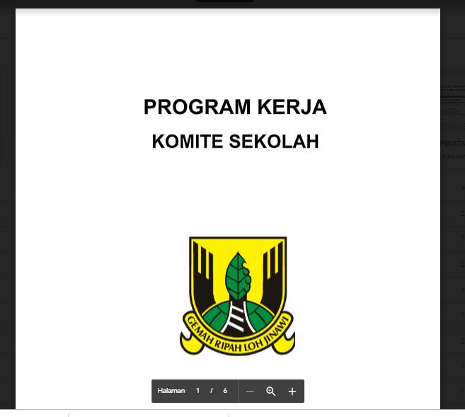 Download Program Kerja Komite Sekolah Salam Literasi
