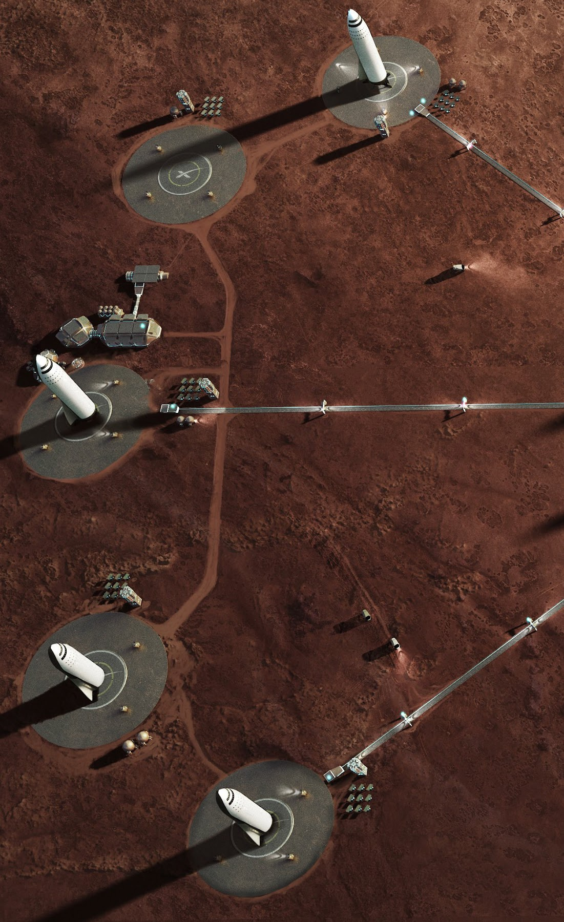 SpaceX's Mars Base Alpha spaceport