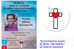 Persekutuan Doa Online PDPKK St Albertus 12 Okt 2020